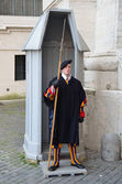 The Swiss guards of the Vatican. — Stock Photo