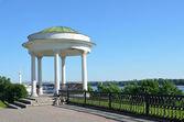 Jarosław, altanka na brzegu Wołgi — Zdjęcie stockowe