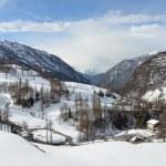 Valtournenche ski resort in Italy. — Stock Photo