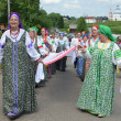 Suzdal, celebration of feast of Pentecost, golden ring of Russia. — Foto de Stock