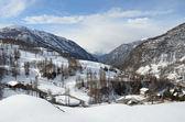 ヴァルトゥルナンシュ ・ アオスタ スキー リゾート イタリア. — ストック写真