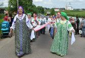 Suzdal, celebração da festa de pentecostes, anel de ouro da rússia. — Foto Stock