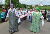 Suzdal, celebration of feast of Pentecost, golden ring of Russia. — Stock Photo