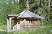 Solovki, Svyato-voznesensky skit (monastery) on Mount Sekirnaya, wooden chapel — Stock Photo