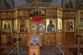 Solovki, Svyato-Voznesensky skit (monastery) on Mount Sekirnaya, The church of Assumption inside — Stock Photo