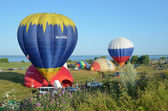 The annual Festival of ballooning Golden ring of Russia in Pereslavl-Zalessky. — Foto Stock