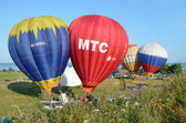 The annual Festival of ballooning the golden ring of Russia in pereslavl-Zalessky. Preparation of balloon to flight — Foto Stock