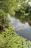 Pereslavl-Zalessky, Trubezh river in summer. Golden ring of Russia — 图库照片