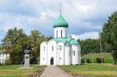 Spaso-Preobrajensky Cathedral in Pereslavl Zalessky, 12 century, the golden ring of Russia. — Stock Photo