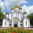 Nicolsky Cathedral in Nicolsky monastery in Pereslavl Zalessky, Golden ring of Russia. — Stock fotografie #28311705