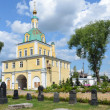 Gate church in Nicolsky monastery in Pereslavl Zalessky, Golden ring of Russia. — Stockfoto