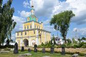 Gate church in Nicolsky monastery in Pereslavl Zalessky, Golden ring of Russia. — Stock Photo