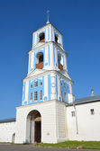 Bell tower of Gate church of Nikitsky monastery in Pereslavl Zalessky, Golden ring of Russia. — Stock Photo