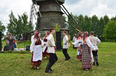 Russia, celebration of Trinity in Suzdal — Stock Photo