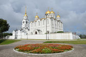 Assumption Cathedral in Vladimir,12 century, the golden ring of Russia — Stock Photo