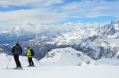 Valtournenche ski resort in Italy. — Stock Photo