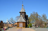 The wooden church of St. Sergius of Radonezh in Holy Trinity monastery in murom — Stock Photo