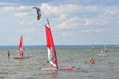 Pereslavl Zalesskiy, holiday at Lake Pleshcheevo . — Stock Photo