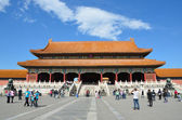 China scene: Beijing, 09 october 2012, People looking for Imperial Palace in Forbidden city — Zdjęcie stockowe