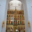 The iconostasis of the Transfiguration (Preobrazhensky) Cathedral of Solovetsky monastery — Stock Photo
