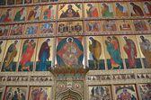 The iconostasis of the Transfiguration (Preobrazhensky) Cathedral of Solovetsky monastery — Stock Photo