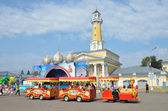 Kostroma, a city day, Susaninskaya square. — Stock Photo