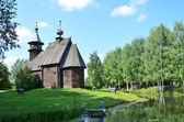 "The Museum of wooden architecture ""Kostroma's sloboda"", the all-merciful Saviour Church of the village Fominskoe, 18th century — Stock Photo"
