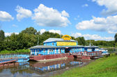 Ryazan, marina on the Oka River — Stock Photo