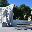 A memorial to the fallen in the great patriotic war in Ryazan, the eternal flame. — Stock Photo