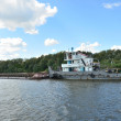Barge on the Oka — Stock Photo