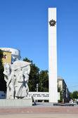 Un monumento a los caídos en la gran guerra patriótica en ryazan, la llama eterna. — Foto de Stock
