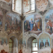 The surviving frescoes in the Nativity Christmas Cathedral of Svyato-Lukianova male Desert near Alksandrov in Vladimir region. — Stock Photo