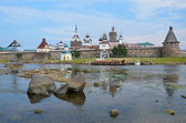 Solovetsky monastery by the harbour of Prosperity — Stock Photo