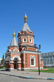 Chapel of St. Alexander Nevsky in Yaroslavl. Golden ring of Russia. — Stock Photo