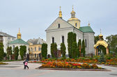 Voskresenskaya church in the city Zolochev, Lviv region in the autumn — Stock Photo