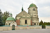 Church of the life-giving Trinity in Olesko, Lviv region. — Stok fotoğraf