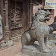 Foto Stock: Nepal,entrance to hinduism temple in one of yards Kathmandu.