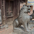 Stock Photo: Nepal,entrance to hinduism temple in one of yards Kathmandu.