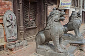 Nepal,entrance to the hinduism temple in one of the yards Kathmandu. — Stock Photo