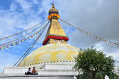 Nepal, Kathmandu, Bodnath stupa — Stock Photo