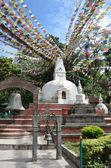 Nepal, Kathmandu, one of the small Stupas on the Svoyambu hill — Stock Photo
