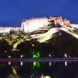 Stock Photo: Tibet, PotalPalace in Lhasa, residence of Dalai Lamas at night.
