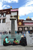 Tibet, Lhasa, historically center, the first Buddhist temple Jokhang — Stock Photo