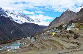 Nepal, byn phortse tenga i himalaya — Stockfoto