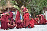 Tibet, Sera monastery near Lhasa, debating monks. — Stock Photo