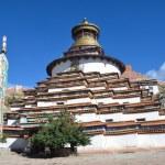 Tibet, Gyfndze, monastery Pelkor Chode, stupa Kumbum, 15 century. — Stock Photo