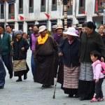 Tibet, ancient Barkhor Street аround the Jokhang temple in Lhasa — Foto de Stock   #35331215