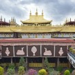 Tibet, ancient Jokhang temple in Lhasa — Stock Photo #35389357