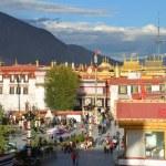 Tibet, Lhasa, buddist's temple Jokhang — Stock Photo #35467635