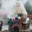 Stock Photo: Tibet, Lhasa, people commit bark surrounding Jokhang